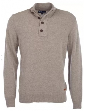 Pull Barbour Patch Half Zip colori Stone Beige