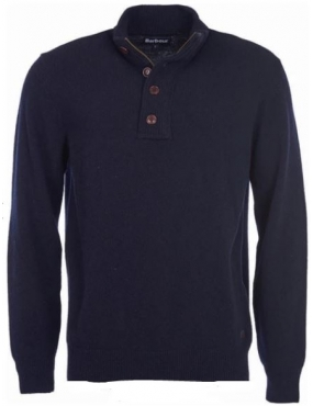 Pull Barbour Patch Half Zip colori navy Bleu