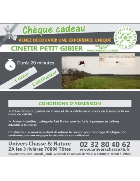 Cinétir petit gibier /skeet/ ball trap/ parcours de chasse