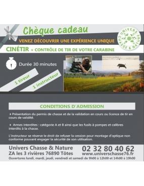 Cinetir +contrôle de réglage au chevalet