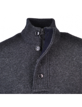 Pull Barbour Patch Half Zip colori Charcoal gris