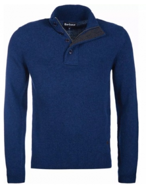 Pull Barbour Patch Half Zip colori Deep Blue