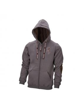Gilet Sweatshirt Chaud Snapshot zip Browning Gris Cendré