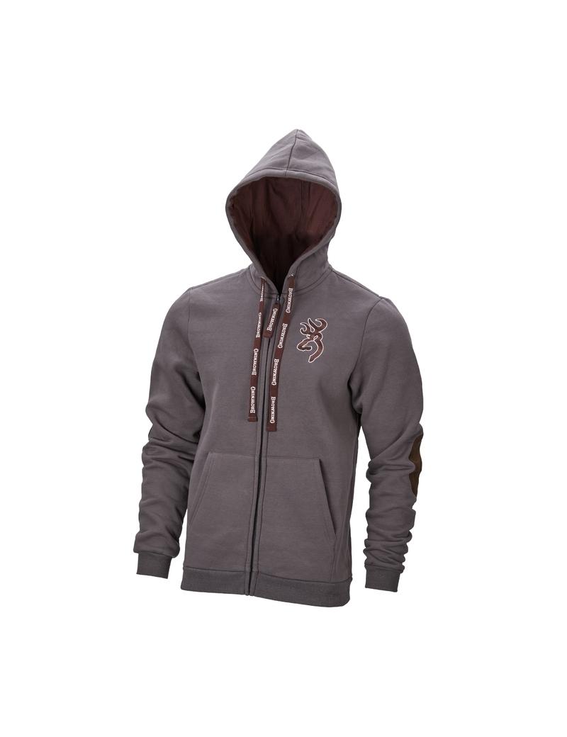 Gilet Sweatshirt Snapshot zip Browning Gris Cendré
