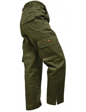 Pantalon multipoches avec broderie sanglier